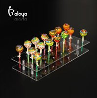 acrylic plastic cups - 20 hole Acrylic Cake Pop Lollipop Clear Pink Display Stand Server Decoration Display Stand Hodler Base Shelf
