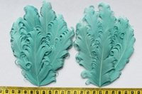 aqua curl - set of Aqua Curled Goose Feather Pads Curly Nagorie feather pads