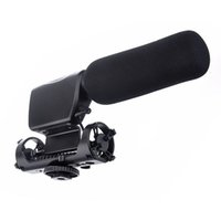 Wholesale New Black NA Q7 Camera Shotgun DV Stereo Microphone with Shock Mount for Canon Nikon Pentax DSLR Camera D II D D E2072A