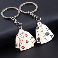 antique men clothing - Top hot Chinese clothes metal key chain holder stand for bag or phone