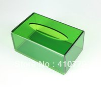 acryl sheet - THZ Wholesales Acrylic Plexiglass Tissue Box Green Of x126x84mm mm Thick acryl Boxes Can Customize Any Shape Size Color