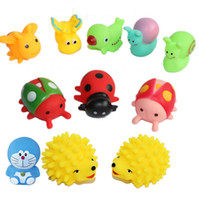 bee sound - Promotion Sale Mini Rubber Bees Animal Baby Bath Water Toys For Sale Kids Bath PVC Animals Insect With Sound Floating Duch CHR