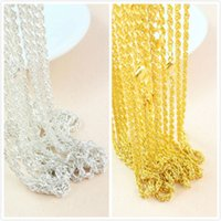 Wholesale Hot Selling High Quality Silver Gold Twisted Rope Chain Necklace Fashion Jewelry inch