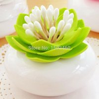 Wholesale Tandenstokerdecoratie tooth pick holder Green transparent dust cover toothpick box Toothpick Holder home decoration tube storag