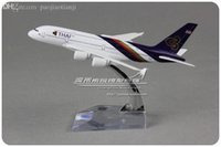 airbus aircraft models - cm Alloy Metal Air Thai Airlines Plane Model Airbus A380 Airways Aircraft Airplane Model Toy Gift