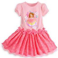 Wholesale New Summer Baby Girl Dress Kids Cartoon Sofia Lace Dress Sofia Short Sleeve Dress Lace Dress Princess Dress