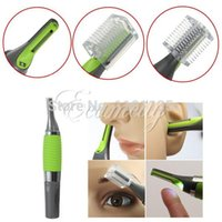 Wholesale Personal Hair Trimmer Clipper Stainless Steel electric Ear Nose Shaver Removal w LED light For Men Women face care