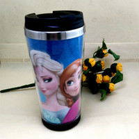 Wholesale Frozen Snow Queen Starbucks cup stainless steel thermal mug hand made DIY photo mug