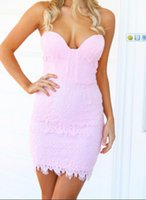 Cheap 1502-Free shipping 2014 baby color white Chest wrapped dress bodycon party dress FT1132-wholesale
