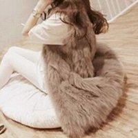 Wholesale Fashion Faux Fur Vest Colete De Pele Falso Winter Jacket Casacos Femininos Women Coat Plus Size Long Waistcoat