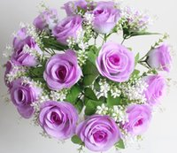 Wholesale New Beautiful Bride bouquets Artificial flowers wedding decoration supply Rose Artificial flowers