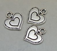 bag of hearts - peach heart pc bag of grams of x14mm antique silver colour alloy bead jewelry accessories