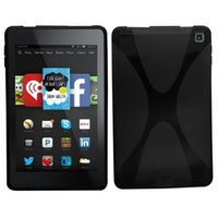 Wholesale X Series Wave Hydro Gel Protective Case cover for Kindle Fire HD6 Version Clear Transparent or Black