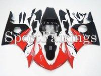 achat en gros de yamaha r6 abs-Carénages Fit Yamaha YZF-R6 YZF600 R6 Année 2003 2004 2005 03-05 Kit de carénage de motocyclettes ABS Carénage de carénage Rouge Noir