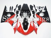 al por mayor carenado de la motocicleta kit yzf r6-Carenados Fit Yamaha YZF-R6 YZF600 R6 Año 2003 2004 2005 03-05 Kit de carenado de motocicleta ABS Carenado de carenado Cowling Rojo Negro