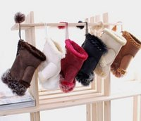 Wholesale Beautiful Rabbit Fur Gloves Lady s Winter Fingerless Multi colored Half fingers Glove