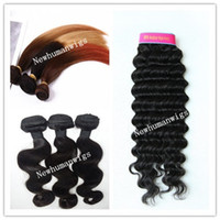 Wholesale 14inch Dyeable Weave bundle Full Head Human Hair Wefts g Body Wave Light Brown Mix Ombre T Color Indian Remy Hair Extensions