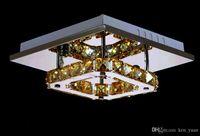 Wholesale Ceiling light crystal LED living room bedroom light lights New crystal Orbital shapes stainless steel crystal LED
