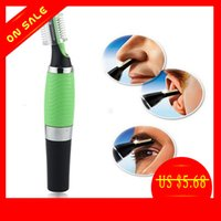 Wholesale Multifunction Personal Face Care Stainless Steel Nose Hair Trimmer Removal Hair Ear Eyebrow Clipper Shaver w LED light for Men and Women
