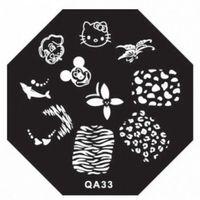 animal stencils - DIY Polish Charm Nail Stamp Stamping Plates Metal Nail Art Templates Stencils Manicure Tools Cute Animal Party QA33