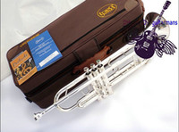 bach instruments - American Bach Original authentic Double silver plated TR GS B flat professional trumpet Top musical instruments Brass bugle