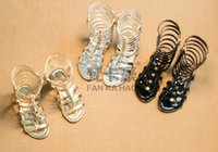 Wholesale 2015 summer new girls Roman shoes hollow braided sandals open toed shoes fashion princess Tall cool boots pair ly