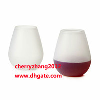 Wholesale New Design Fashion Unbreakable clear Wine Glass silicone wine glass silicone wine cup wine glasses