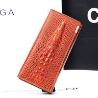 bag black friday - 2016 Black Friday Fashion Genuine Leather Women Clutch Wallet Fold Crocodile Head Woman s Purse Carteras Cellphone Bag