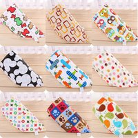 Cotton mixed color Cartoon Wholesale - Baby Bandana Scarf 2 Sides Bibs Feeding Clear Triangle 100% Cotton Kid Head Scarf Infant Bibs Burp Cloths cheap 201505HX