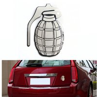 Wholesale New Cool Vehicle Motorcycle Sticker Auto D Car Auto Emblem Badge Grenade Logo Stainless Steel Car Decal Exterior Decoration order lt no tra