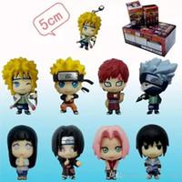 Wholesale Animation around genuine set of Naruto Q edition doll keychain