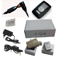 Wholesale Nouveau contour needle Cartridges digital permanent makeup tattoo machine Kit with LCD power supply