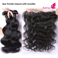 indian hair extensions - Human Hair Weave With Closure Grade A Virgin Hair Extensions Peruvian Indian Malaysian Brazilian Body Wave Frontal Closures And Bundle
