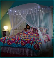 Wholesale Curtains Canopy Bed Netting Mosquito Net Full Queen King Size Bed Netting Mosquito Net free shippin