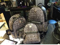 canvas backpacks - MCM leather backpack for Men Women sports bags Punk Rivets korean MCM backpacks Top Quality Brand bag Colors Size for choice