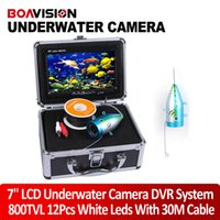 underwater fishing camera - 800TVL fish finder Camera White LED quot TFT Color LCD Underwater Ice Video Fishing Camera DVR Kit Metal Case M Cable Aluminum Case