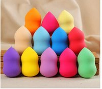 Wholesale 500pcs Makeup Foundation Sponge Blender Blending Cosmetic Puff Flawless Powder Smooth Beauty Make Up Tool