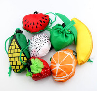 Wholesale Hot sell Styles Cute Useful Fruit Watermelon Pitaya Foldable Eco Reusable Shopping Bags cm x37cm GB015