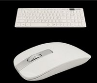 Wholesale DHL shipping GHZ WIRELESS KEYBOARD BLACK CORDLESS OPTICAL MOUSE SET FOR PC LAPTOP