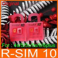 achat en gros de x sim 4s-Origine de la R-SIM 10 RSIM10 RSIM10 Parfait de Déverrouillage SIM Carte Officielle d'IOS 7.x ios 8.x pour l'iphone 6 6plus 5S 5 4s ATT, T-mobile, Sprint GSM CDMA