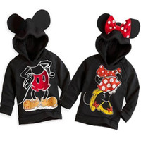 kids winter sweater - Cute Kids Girls Boys Mickey Minnie Mouse Hooded Jacket Sweater Hoodie Coat Y