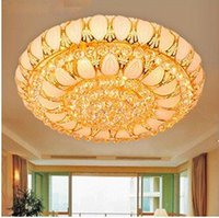 110V cornucopia - Ceiling Lights Modern LED K9 Crystal Fashion Luxury Remote Cornucopia Ceiling Light Gold Living Room Hotel Restaurant Ceiling Lighting