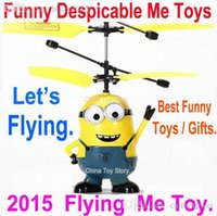 best service rc - Lowest Price Best Service Despicable Minion Me Toy Mini Remote Control RC Helicopter Drone Quadcopter Flying Electronic Toy Gift