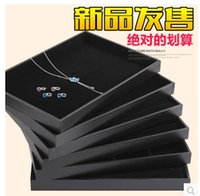 Wholesale Many Varieties Of High Quality Black Leatherette Necklace Bracelet Ring Earring Beads Sample Compartment Jewelry Show Display Tray Holder