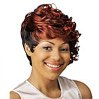 Cheap curly burgundy wig Best European Wigs Christmas cosplay wig