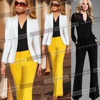 Cheap Womens Solid Zipper Business Work Casual Pocket Slim Stretch Wide Leg Flare Long Pants Trousers Palazzo 051