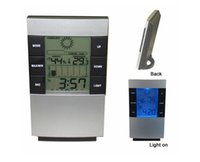 Wholesale All In One Digital LED Thermometer Digital Day Date Alarm Clock Digital Thermometer and Digital Hygrometer