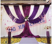 best curtain designs - Our Best Sale Wedding Backdrop Stage Curtains With Purple Color Designs And Sequin Fabric