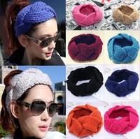 Wholesale Fashion New Crochet Twist Knitted Headwrap Headband Winter Warmer Hairband For Women Colors Women Headwears