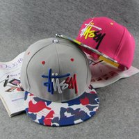stussy - STUSSY purchasing European trend of men and women Shixia day letter baseball cap flat along the cap hip hop street skateboarding hat